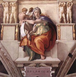La Sibilla delfica di Michelangelo